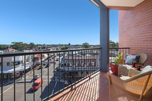 One of the Three Balconies of the Three Bedroom Apartment at Boulevard Apartments.