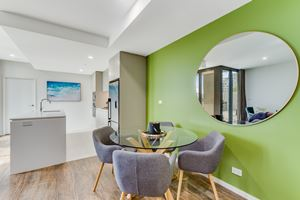 The dining area at Verve 2 Bedroom Apartment.