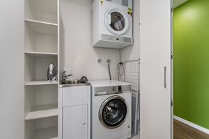 The laundry at Verve 2 Bedroom Apartment.