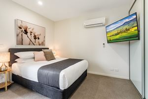The main bedroom at Verve 2 Bedroom Apartment.