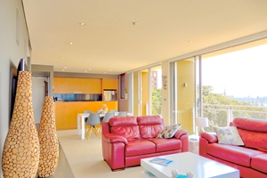 The Lounge Room of The York Two Bedroom Oceanview Apartment at Newcastle Beach.