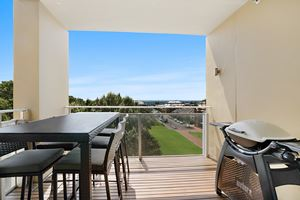 The Balcony of the York 2 Bedroom Apartment on Newcastle Beach.