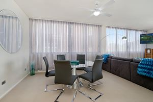 The Dining Area of the York 2 Bedroom Apartment on Newcastle Beach.