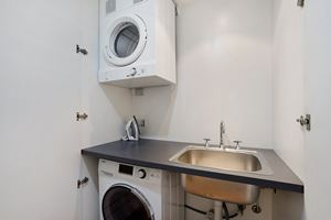 The Laundry of the York 2 Bedroom Apartment on Newcastle Beach.
