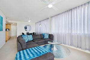 The Living Room of the York 2 Bedroom Apartment on Newcastle Beach.