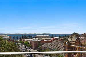 The View towards Nobbys from the York 2 Bedroom Apartment on Newcastle Beach.