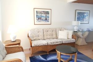 The Lounge of a Standard 2 Bedroom Terrace Apartment at Centennial Terrace Apartments.