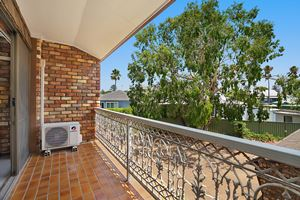 The Balcony of Centennial Terrace Apartments Standard 2 Bedroom Unit.