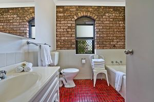 The Bathroom of Centennial Terrace Apartments Superior 2 Bedroom Unit.