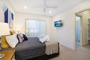 The Main Bedroom at James Street Morpeth One Bedroom House.