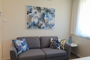 The Lounge of Mayfield Short Stay Apartments.