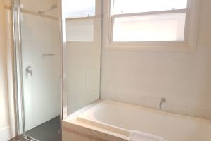 The main bathroom of our Cooks Hill Cottage.