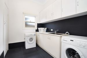 A fully equipped laundry is provided at Cooks Hill Cottage.