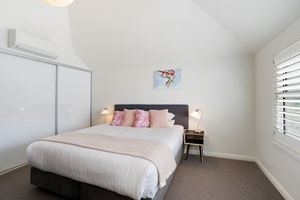 One of the four large bedrooms at Veda House.