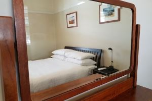One of the four spacious bedrooms in Veda House.