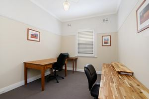 Veda House provides a home office area.