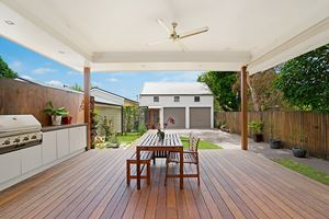 Veda House provides a protected deck or outdoor entertaining.