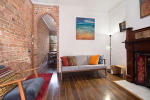 The lounge room at 9 Alfred Street Terrace.