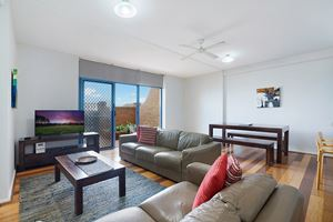 Sandbar Apartment provides an spacious living area on the ground floor.