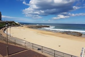 The Sandbar Townhouse provides direct acess to Newcastle Beach.